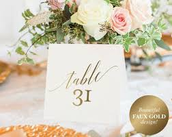 gold wedding table numbers gold table numbers wedding table numbers table number template