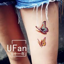 sticker butterfly flower 3d effect simulation tattoos