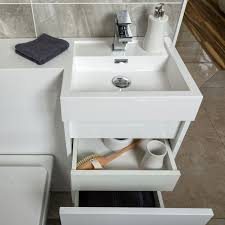 Combination Vanity Units For Bathrooms Summers 900 Wc And Vanity Combination Unit Gloss White Right