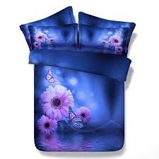 Blue And Purple Flowers 226 Best 3d Bedding Sets Images On Pinterest Bedding Sets Duvet