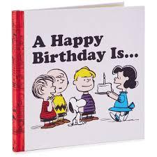 happy birthday book peanuts a happy birthday is book gift books hallmark