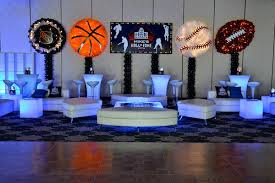 basketball party table decorations club lounge nightclub theme ideas bar bat mitzvah sweet 16