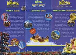 Knotts Berry Farm Map Theme Park Brochures Knott U0027s Berry Farm Resort Theme Park Brochures