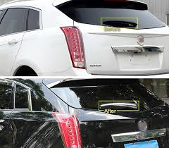cadillac srx trim packages 1pcs chrome rear window wiper cover trim molding fit for cadillac