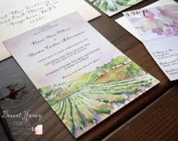 vineyard wedding invitations rustic vineyard wedding invitation suite letterpress