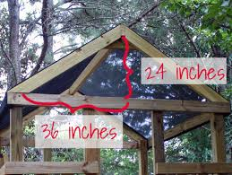 Building A Backyard Playground by How To Add A Roof To A Diy Wooden Playground Playset