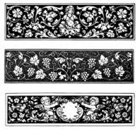 row ornaments in baroque style free image