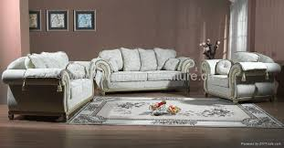Leather Fabric For Sofa Antique Royal Solid Wood Furniture Leather Fabric Sofa Set Living Room