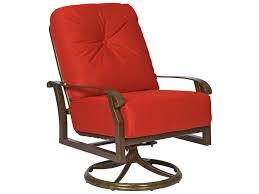 Woodard Patio Furniture - woodard cortland cushion aluminum swivel rocking lounge chair 4z0477