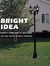 How To Drill Your Own Well In Your Backyard how to install a lamp post in your yard