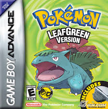 nintendo gameboy advance pokemon leaf green box art