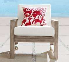 Outdoor Pillow Slipcovers Vibrant Embroidered Indoor Outdoor Pillow Pottery Barn