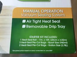manual foodsaver hands on review foodsaver v2244 vacuum sealer homebrew finds