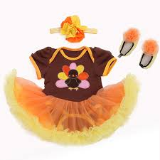 trendy infant baby thanksgiving turkey tutu romper