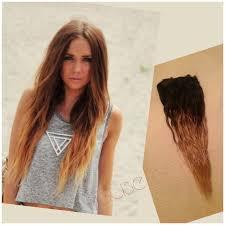 goldie locks clip in hair extensions rustic ombre human hair extensions dip dye