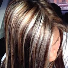blonde hair with chunky highlights 40 blonde and dark brown hair color ideas hairstyles haircuts
