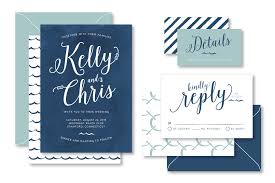 blue wedding invitations anthologie press new nautical wedding invitation suite