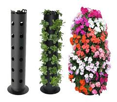 Lowes Planter Box by Flower Tower Freestanding Vertical Planter Pvc Pipe Large