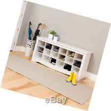 white shoe rack hallway storage cubbie bench boots organizer