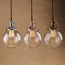 details about rustic vintage industri pendant light glass globe