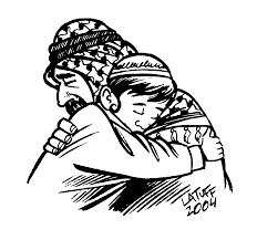 jewish coloring book this picture of a young jewish boy hugging a muslim man shows that
