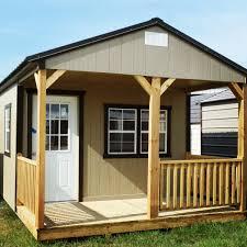 derksen painted cabin storage garden shed lawn organization