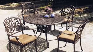 Aluminum Cast Patio Dining Sets Cool Cast Aluminum Patio Chair Of Hallandale Set 2 Chairs Black