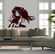 amazon com wall mural vinyl sticker decal anime manga girl amazon com wall mural vinyl sticker decal anime manga girl playing violin d1648