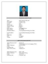 Resume Sample Format Malaysia by English Major Resume Template Contegri Com