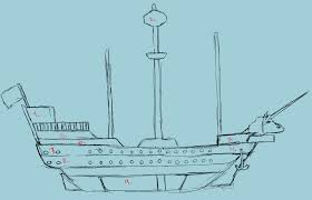 the sea wanderers ship sketch by chironaila on deviantart