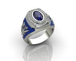 rings for men 3d print model sapphire white gold 18k rings for men