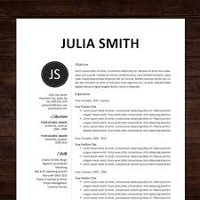 new resume template u0026 cover letter the julia instant download