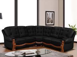 canapé d angle imitation cuir canapé d angle en simili confortable coloris noir silvio