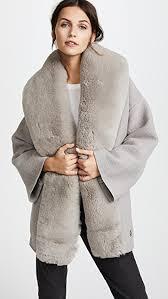 fur sweater salvatore ferragamo sweater coat with fur trim shopbop