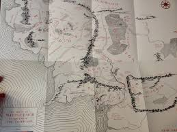 Lord Of The Rings World Map by 50th Anniversary Lotr Map Scans Anywhere Lotr