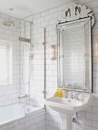 bathroom fresh white framed mirrors for bathrooms decoration