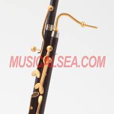 miniature wooden and brass replica bassoon model