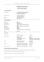 Example Of The Perfect Resume by Cv Cover Letter Sample South Africa Cover Letter Example