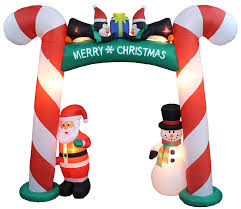 amazon com 8 foot tall lighted christmas inflatable cane