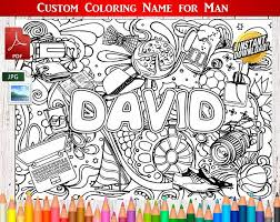printable coloring pages of your name custom man coloring name personalized name print printable coloring