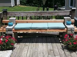 Outdoor Bench Furniture by Diy Cinder Block Outdoor Bench