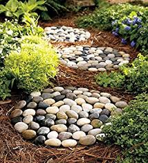 Decorative Rocks For Garden River Rock Stepping Stones Set Of 3 Outdoor