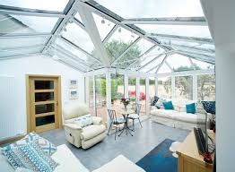stunning double ended gable front conservatory connecting garage