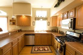 elegant design of the interior colors for mobile homes with wooden