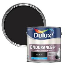 washable paint for walls dulux endurance rich black matt wall u0026 ceiling paint 2 5l