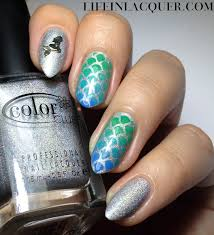 life in lacquer fish scales nail art and tutorial