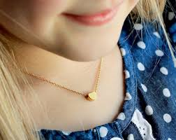 childrens gold jewelry children s initial necklace lowercase personalized