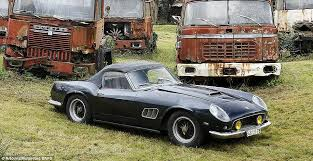 vintage ferraris for sale found rusting in barn sold for 23 million at