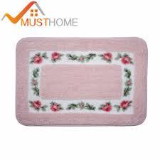 Wash Bathroom Rugs 40x60cm 15 7 Wx23 6 L Pink Carpet Doormat European Style Garden