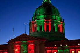 sf city hall lights sf city hall lights up for christmas kick off night funcheap